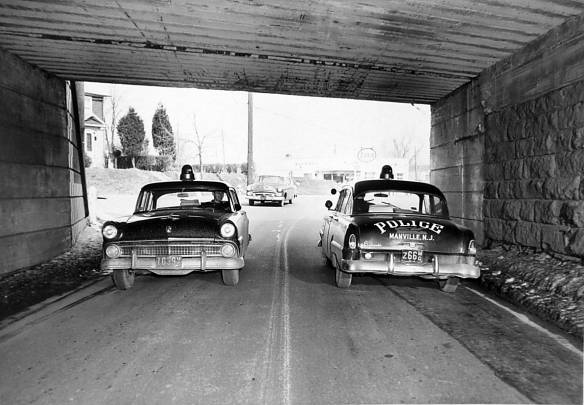 cop cars weston underpass
